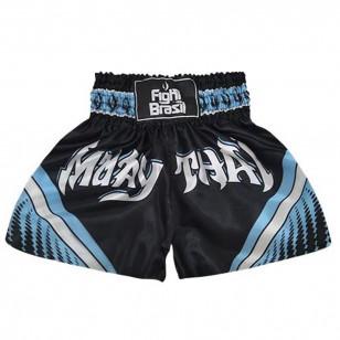 Short Muay Thai Kickboxing Cetim Fight Brasil