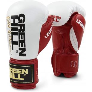 luva boxe muay thai Green Hill Couro legítimo