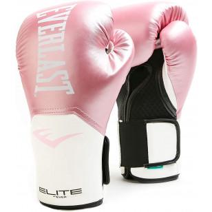 Luva Boxe Muay Thai Everlast Pro Style Elite Rosa Feminina