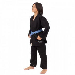 Kimono jiujitsu infantil preto torah trancado