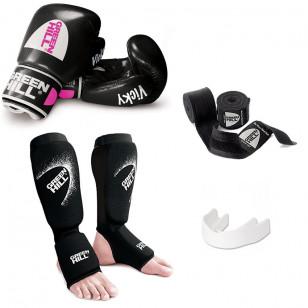 Kit Muay Thai e Kickboxing Green Hill Total Vicky