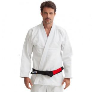 kimono jiujitsu trancado branco vulkan profissional