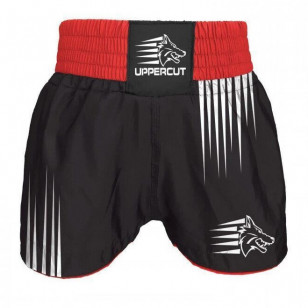Short Muay Thai Kickboxing preto Uppercut