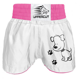 Short Muay Thai Kickboxing Preto rosa Uppercut